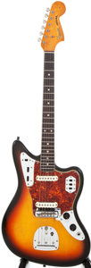 Musical Instruments:Electric Guitars, 1965 Fender Jaguar Sunburst Solid Body Electric Guitar, #L71423....
