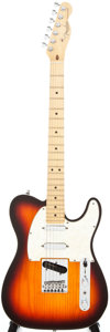Musical Instruments:Electric Guitars, 1998 Fender Telecaster Deluxe Plus Sunburst Solid Body ElectricGuitar, #N7305528....