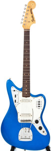 Musical Instruments:Electric Guitars, 1963 Fender Jaguar Metallic Blue Solid Body Electric Guitar,#L12868....