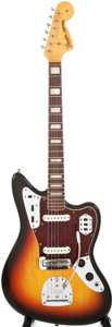 Musical Instruments:Electric Guitars, 1967 Fender Jaguar Sunburst Solid Body Electric Guitar, #207676....