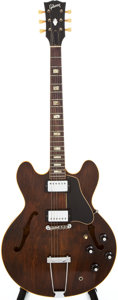 Musical Instruments:Electric Guitars, 1969 Gibson ES-335 TD Walnut Semi-Hollow Body Electric Guitar,#914921....