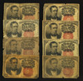 Fractional Currency:Fifth Issue, Fr. 1265 and Fr. 1266 10¢ Fifth Issue Notes. Good to Fine. EightExamples.. ... (Total: 8 notes)