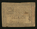 Colonial Notes:Pennsylvania, Pennsylvania October 1, 1773 2s Fine-Very Fine.. ...
