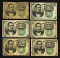 Fractional Currency:Fifth Issue, Fr. 1264 10¢ Fifth Issue Notes. Very Good to Extremely Fine. SixExamples.. ... (Total: 6 notes)