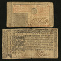 Colonial Notes:Mixed Colonies, Maryland and New Jersey Colonials. Fine.. ... (Total: 2 notes)