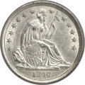 Seated Dimes, 1840-O 10C No Drapery MS62 PCGS. CAC. Fortin-101....