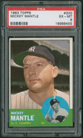 Baseball Cards:Singles (1960-1969), 1963 Topps Mickey Mantle #200 PSA EX-MT 6....