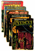 Golden Age (1938-1955):Horror, Adventures Into The Unknown Group (ACG, 1948-49) Condition: AverageFR.... (Total: 5 Comic Books)
