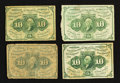 Fractional Currency:First Issue, Fr. 1242 10¢ First Issue Very Good to About New. Four Examples.. ... (Total: 4 notes)