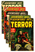 Golden Age (1938-1955):Horror, Adventures Into Terror #13 and 17-20 Group (Atlas, 1952-53)Condition: Average GD/VG.... (Total: 5 Comic Books)