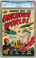 Golden Age (1938-1955):Science Fiction, Journey Into Unknown Worlds #36 (#1) (Atlas, 1950) CGC VF/NM 9.0Cream to off-white page....