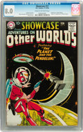 Silver Age (1956-1969):Science Fiction, Showcase #17 Adventures On Other Worlds - Adam Strange (DC, 1958) CGC VF 8.0 Cream to off-white pages....