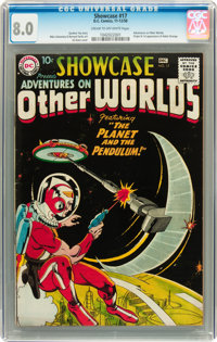 Showcase #17 Adventures On Other Worlds - Adam Strange (DC, 1958) CGC VF 8.0 Cream to off-white pages