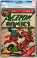 Golden Age (1938-1955):Superhero, Action Comics #16 (DC, 1939) CGC GD/VG 3.0 Cream to off-white pages....