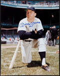 Baseball Collectibles:Photos, Mickey Mantle Single Signed Oversized Photograph. ...