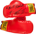 Boxing Collectibles:Autographs, Mike Tyson Signed Boxing Gloves....