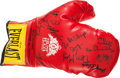Boxing Collectibles:Autographs, Boxing Notables Multi Signed Glove....