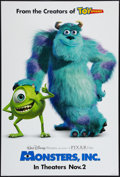 "Movie Posters:Animation, Monsters, Inc. (Buena Vista, 2001). One Sheet (27"" X 40"") DSAdvance. Animation.. ..."