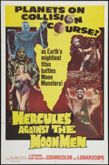 "Movie Posters:Fantasy, Hercules Against the Moon Men (Governor Films, 1965). One Sheet(27"" X 41""). Fantasy.. ..."
