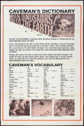 "Movie Posters:Fantasy, When Dinosaurs Ruled the Earth (Warner Brothers, 1970). Special""Caveman's Vocabulary"" Poster (40"" X 60""). Fantasy.. ..."