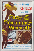 "Movie Posters:Horror, Face of the Screaming Werewolf (A.D.P., 1965). One Sheet (27"" X 41""). Horror.. ..."