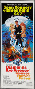 "Movie Posters:James Bond, Diamonds Are Forever (United Artists, 1971). Insert (14"" X 36""). James Bond.. ..."