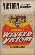 "Movie Posters:War, Winged Victory (20th Century Fox, 1944). Window Card (14"" X 22"").War.. ..."