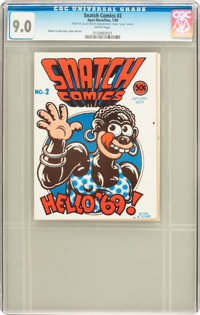 Snatch Comics #2 First Printing (Apex Novelties, 1969) CGC VF/NM 9.0 White pages
