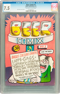 Beer Comix #1 (Public Publications, 1971) CGC VF- 7.5 Off-white to white pages