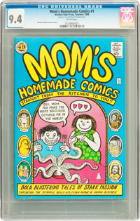 Mom's Homemade Comics #1 49¢ Edition (Kitchen Sink, 1969) CGC NM 9.4 White pages