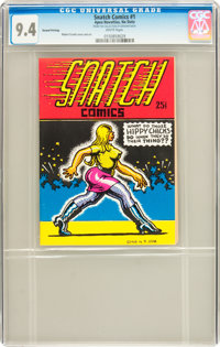 Snatch Comics #1 Second Printing (Apex Novelties, 1968) CGC NM 9.4 White pages