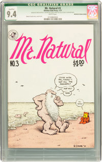Mr. Natural #3 First Printing Manufacturing Error (Apex Novelties, 1977) CGC Qualified NM 9.4