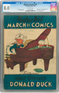 Golden Age (1938-1955):Funny Animal, March of Comics #41 Donald Duck (K. K. Publications, Inc., 1949)CGC VF 8.0 Off-white pages....