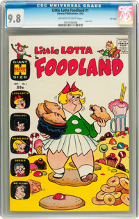 Little Lotta Foodland #1 File Copy (Harvey, 1963) CGC NM/MT 9.8 Off-white to white pages