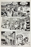 """Original Comic Art:Panel Pages, Mark Schultz and Steven Stiles Xenozoic Tales #2 """"The Rulesof the Game"""" page 3 Original Art (Kitchen Sink, 1987)...."""