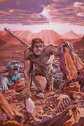 Original Comic Art:Covers, Tim Conrad Ironhand of Almuric #1 Painted Cover Original Art(Dark Horse, 1991). ...
