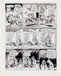 "Original Comic Art:Panel Pages, Robert Crumb Cavalier ""Fritz the No Good"" Page 4 OriginalArt (1968)...."