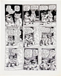 "Original Comic Art:Panel Pages, Robert Crumb Cavalier ""Fritz the No Good"" Page 5 OriginalArt (1968)...."