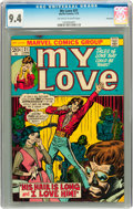 Bronze Age (1970-1979):Romance, My Love #21 Savannah pedigree (Marvel, 1973) CGC NM 9.4 Off-whiteto white pages....