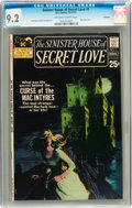 Bronze Age (1970-1979):Romance, Sinister House of Secret Love #1 Savannah pedigree (DC, 1971) CGCNM- 9.2 Off-white to white pages....