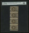 Fractional Currency:Second Issue, Fr. 1232 5¢ Second Issue Vertical Uncut Strip of Four PMG About Uncirculated 50.. ...