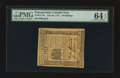 Colonial Notes:Pennsylvania, Pennsylvania July 20, 1775 20s PMG Choice Uncirculated 64 EPQ.. ...