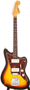 Musical Instruments:Electric Guitars, 1966 Fender Jazzmaster Sunburst Solid Body Electric Guitar,#145618....