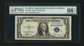 Small Size:Silver Certificates, Fr. 1609 $1 1935A R Silver Certificate. PMG Gem Uncirculated 66 EPQ.. ...