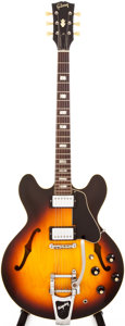 Musical Instruments:Electric Guitars, Late 1960s Gibson ES-335 Sunburst Archtop Electric Guitar,#112311....