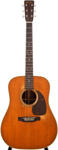 Musical Instruments:Acoustic Guitars, 1955 Martin D-28 Natural Acoustic Guitar, #144546....