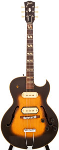 Musical Instruments:Electric Guitars, 1954 Gibson ES-295 Sunburst Archtop Electric Guitar, #16721....