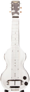 Musical Instruments:Lap Steel Guitars, Early 1940s Rickenbacker Silver Hawaiian Chrome Lap Steel Guitar,#D1690....