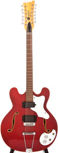 Musical Instruments:Electric Guitars, 1968 Mosrite Celebrity III Cherry 12-String Semi-Hollow Body Electric Guitar, #W-0242....