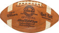 Football Collectibles:Balls, 1957 Cleveland Browns Team Signed Football - With Len Ford and Jim Brown Rookie Examples!...
